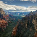 High elevation view of Sedona's canyons.