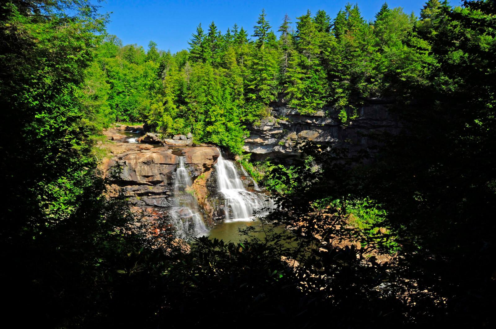 Blackwater Falls in West Virginia's Blackwater Falls State Park