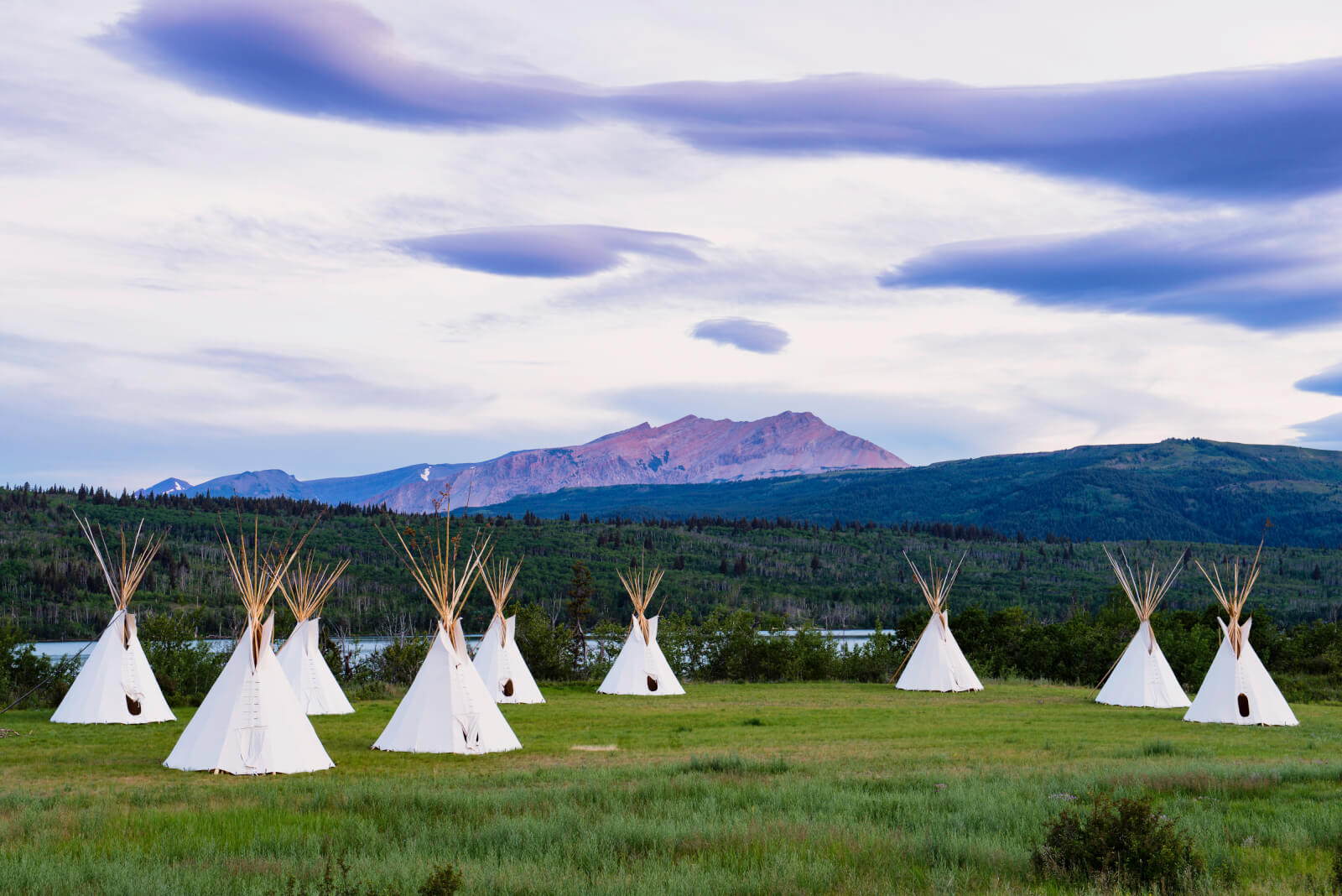 Tipis in Glacier Country, Montana