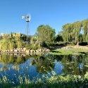 Lake outside of Hanson Distillery in Sonoma County, California.