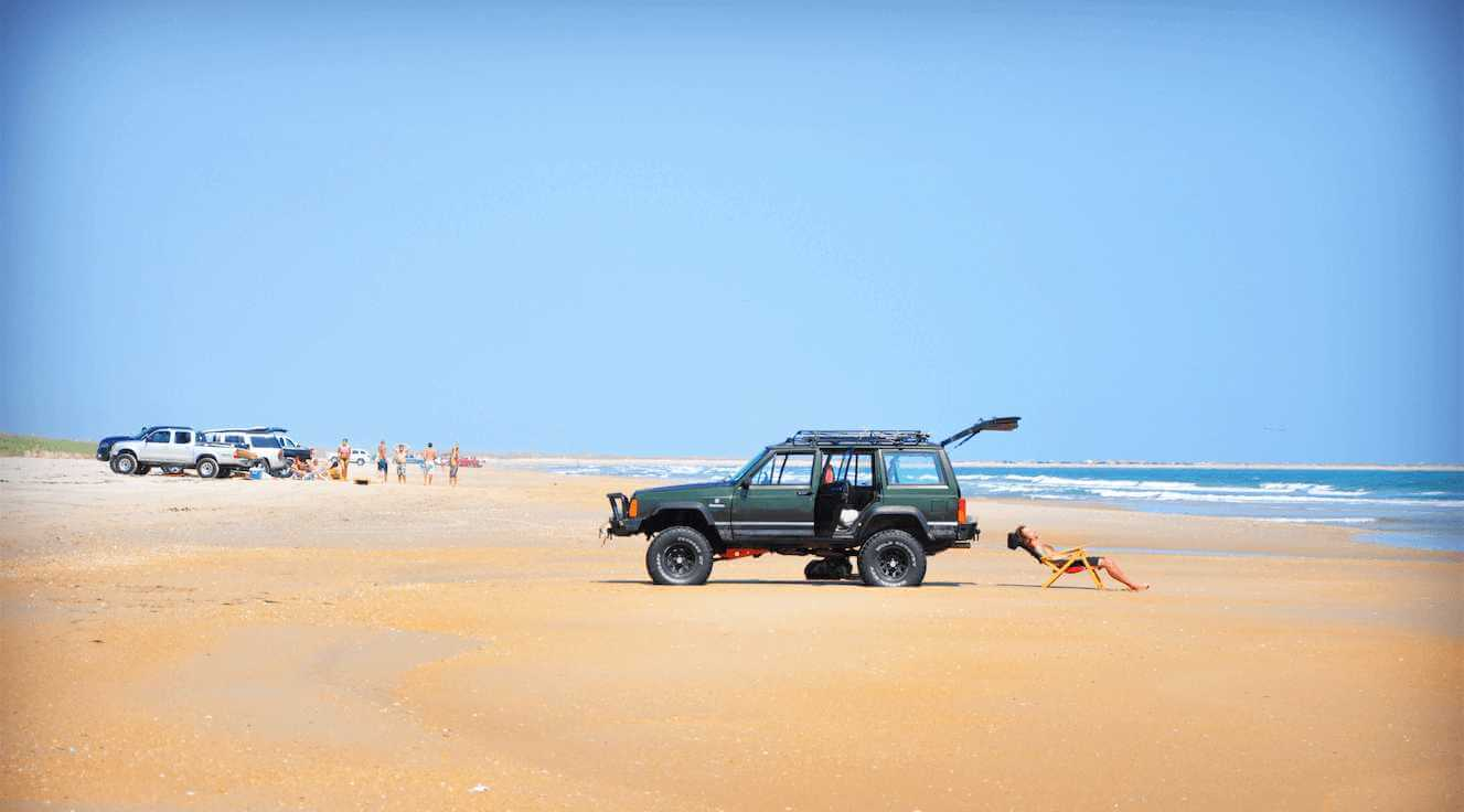4x4 on the beach at Cape Hatteras in The OBX in North Carolina