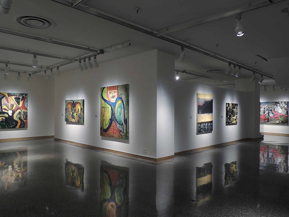 Inside the Rockford Art Museum in Illinois.