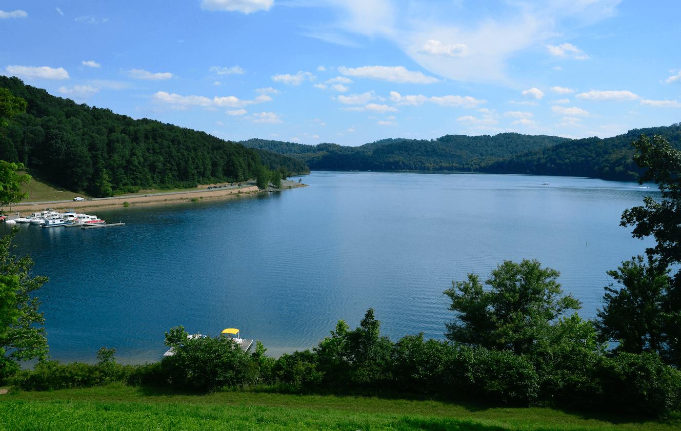 Tygart Lake State Park in Grafton, West Virginia