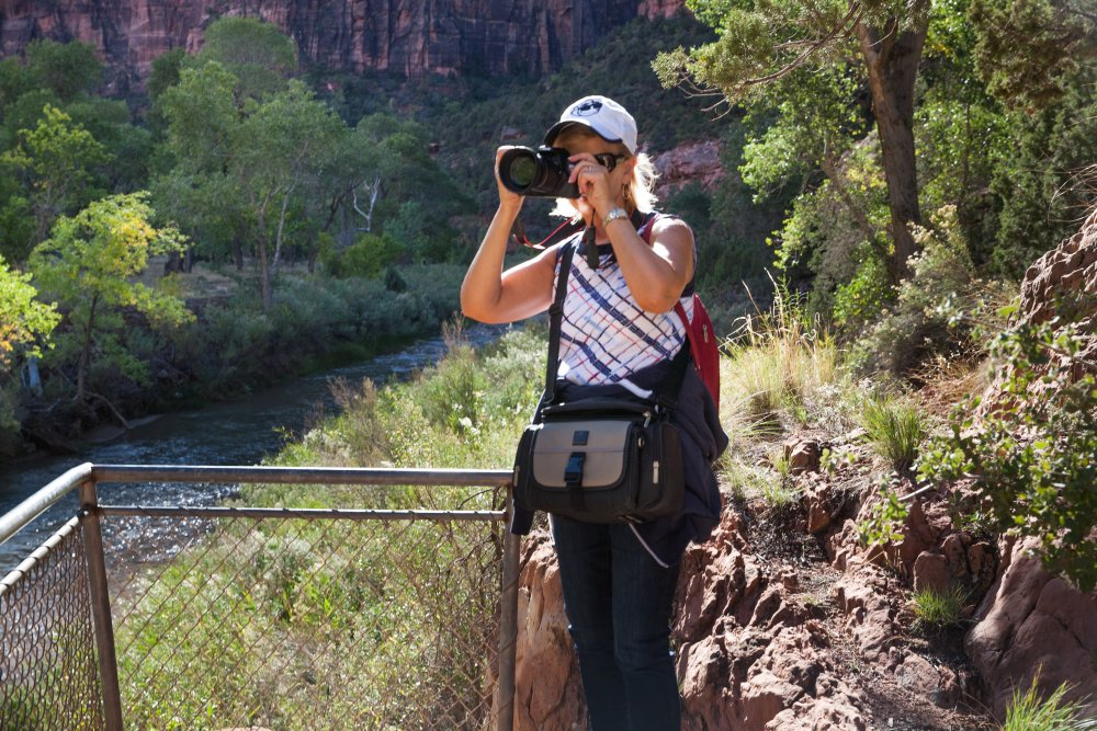 Photographer in Zion National Park in Utah