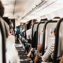 view down aisle on an airplane