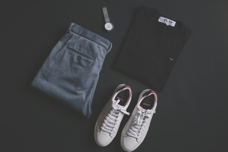 Top down view of an outfit